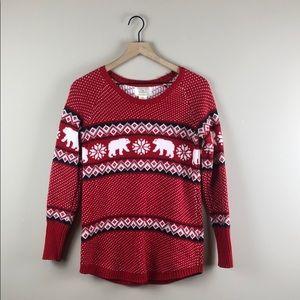 Ruby Moon Red Polar Bear Sweater (Medium)